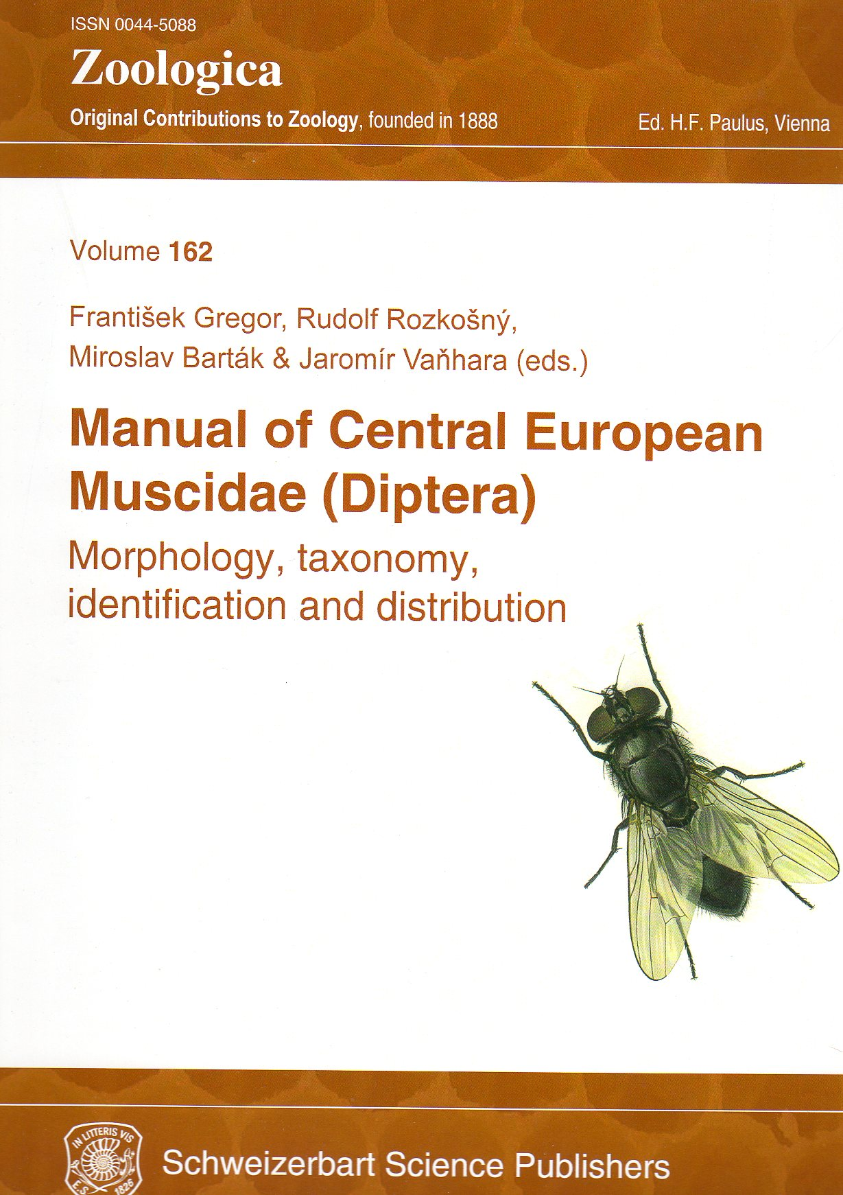Manual of Central European Muscidae (Diptera). Morphology, taxonomy, identification and distribution